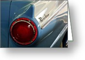 Twitter Greeting Cards - 1957 Ford Ranchero Pickup Truck Taillight Greeting Card by Jill Reger