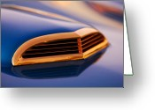 Gold Ford Greeting Cards - 1957 Ford Thunderbird Scoop Greeting Card by Jill Reger
