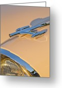 Car Mascot Greeting Cards - 1957 Oldsmobile Hood Ornament 6 Greeting Card by Jill Reger