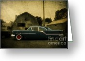 Oldsmobile Greeting Cards - 1957 Oldsmobile Greeting Card by Joel Witmeyer