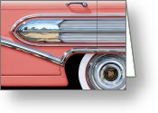 Old Digital Art Greeting Cards - 1958 Buick Side Chrome Bullet Greeting Card by David Kyte