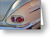 1958 Chevrolet Greeting Cards - 1958 Chevrolet Belair Taillight Greeting Card by Jill Reger