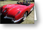 Collectors Car Greeting Cards - 1958 Chevrolet Corvette . 5D16216 Greeting Card by Wingsdomain Art and Photography