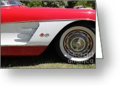 1958 Chevrolet Greeting Cards - 1958 Chevrolet Corvette . 5D16218 Greeting Card by Wingsdomain Art and Photography