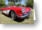 1958 Chevrolet Greeting Cards - 1958 Chevrolet Corvette . 5D16220 Greeting Card by Wingsdomain Art and Photography