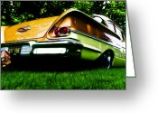Custom Chev Greeting Cards - 1958 Chevrolet DelRay Greeting Card by Phil 