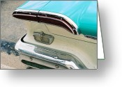 Antique Automobile Greeting Cards - 1958 Edsel Pacer Tail Light Greeting Card by Lauri Novak