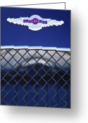 Roadster Greeting Cards - 1959 Aston Martin Jaguar C-Type Roadster Emblem Greeting Card by Jill Reger