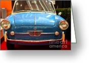 Imports Greeting Cards - 1959 Autobianchi Bianchina Transformabile . Front View Greeting Card by Wingsdomain Art and Photography