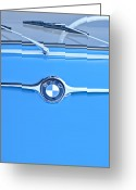 Bmw Emblem Greeting Cards - 1959 BMW 600 Isetta Hood Emblem Greeting Card by Jill Reger