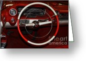 Dash Greeting Cards - 1959 Cadillac Convertible - 7D17387 Greeting Card by Wingsdomain Art and Photography
