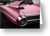 Car Ornaments Greeting Cards - 1959 Pink Cadillac Convertible Greeting Card by David Patterson