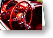 Mascots Greeting Cards - 1959 Red Chevy Corvette Greeting Card by David Patterson