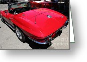 Collectors Car Greeting Cards - 1960 Chevrolet Corvette Sting Ray . 5D16505 Greeting Card by Wingsdomain Art and Photography