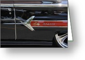 Hot Rod Greeting Cards - 1960 Chevy Impala Greeting Card by Mike McGlothlen