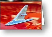Chrome Jet Greeting Cards - 1960s Jet style Greeting Card by David Lee Thompson