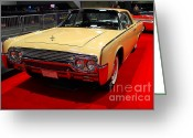 1961 Lincoln Continental Sedan Greeting Cards - 1961 Lincoln Continental Sedan . 7D9230 Greeting Card by Wingsdomain Art and Photography