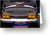 Austin Healey Photo Greeting Cards - 1962 Austin Healey 3000 MkII Greeting Card by David Patterson