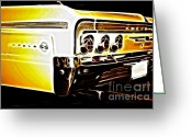 Street Rods Greeting Cards - 1962 Chevrolet Impala SS Greeting Card by Cheryl Young