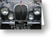 Chrome Grill Greeting Cards - 1963 Jaguar MKII Grill Greeting Card by Paul Ward