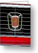 Classic Fiat Greeting Cards - 1964 Fiat Cabriolet Grille Emblem Greeting Card by Jill Reger