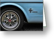 Cobra Poster Greeting Cards - 1964 Ford Mustang Greeting Card by Gordon Dean II