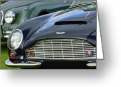 Short Greeting Cards - 1965 Aston Martin DB6 Short Chassis Volante Greeting Card by Jill Reger