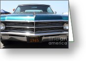 Blue Buick Greeting Cards - 1965 Buick LeSabre . 7D15491 Greeting Card by Wingsdomain Art and Photography