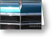 Blue Buick Greeting Cards - 1965 Buick LeSabre . 7D15492 Greeting Card by Wingsdomain Art and Photography