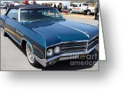 Blue Buick Greeting Cards - 1965 Buick LeSabre . 7D15493 Greeting Card by Wingsdomain Art and Photography