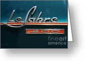 Blue Buick Greeting Cards - 1965 Buick LeSabre . 7D15494 Greeting Card by Wingsdomain Art and Photography