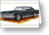 Great Painting Greeting Cards - 1965 Buick Riviera Custom Greeting Card by Jack Pumphrey