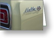 Chevrolet Chevelle Greeting Cards - 1965 Chevrolet Chevelle Malibu SS Emblem and Taillight Greeting Card by Jill Reger