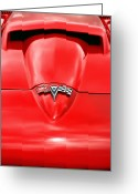 1964 Corvette Greeting Cards - 1965 Chevy Corvette Hood Scoop Greeting Card by Gordon Dean II