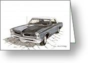 90s Greeting Cards - 1965 Pontiac GTO Convertible Greeting Card by Jack Pumphrey