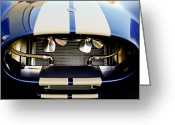 Sports Car Greeting Cards - 1965 Shelby Cobra Grille Greeting Card by Jill Reger
