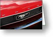 Chrome Jet Greeting Cards - 1966 Ford Mustang Greeting Card by Gordon Dean II