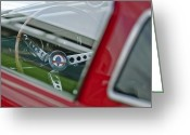 Shelby Greeting Cards - 1966 Shelby GT350 Steering Wheel Greeting Card by Jill Reger