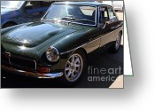 British Classic Cars Greeting Cards - 1967 British Racing Green MGC . 7d15904 Greeting Card by Wingsdomain Art and Photography