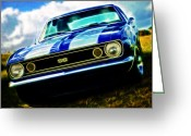 Beach Hop Greeting Cards - 1967 Chevrolet Camaro SS Greeting Card by Phil 