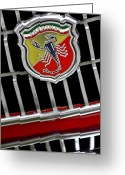 Classic Fiat Greeting Cards - 1967 Fiat Abarth 1000 OTR Emblem Greeting Card by Jill Reger