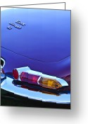 Jaguar E Type Greeting Cards - 1967 Jaguar E-Type 4.2 Liter Series 1 Roadster Taillight Greeting Card by Jill Reger