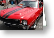 Red Sportscar Greeting Cards - 1968 AMX 7d15141 Greeting Card by Wingsdomain Art and Photography