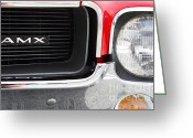 Collectors Car Greeting Cards - 1968 AMX 7d15142 Greeting Card by Wingsdomain Art and Photography