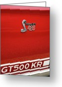 Chrome Jet Greeting Cards - 1968 Ford Mustang GT500 KR - King of the Road Greeting Card by Gordon Dean II