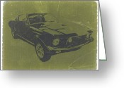 Mustang Greeting Cards - 1968 Ford Mustang Greeting Card by Irina  March