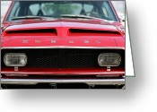 Chrome Jet Greeting Cards - 1968 Ford Mustang Shelby GT500 KR Greeting Card by Gordon Dean II