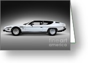 1970s Photo Greeting Cards - 1968 Lamborghini Espada Greeting Card by Oleksiy Maksymenko
