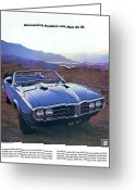 Ram Air Greeting Cards - 1968 Pontiac Firebird 400 Greeting Card by Digital Repro Depot