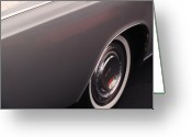 Lincoln Greeting Cards - 1968 Vintage Lincoln Sedan Fender Greeting Card by Anna Lisa Yoder